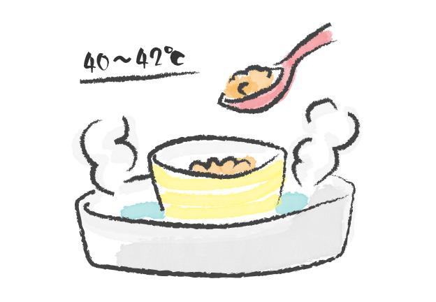 さし餌の温度